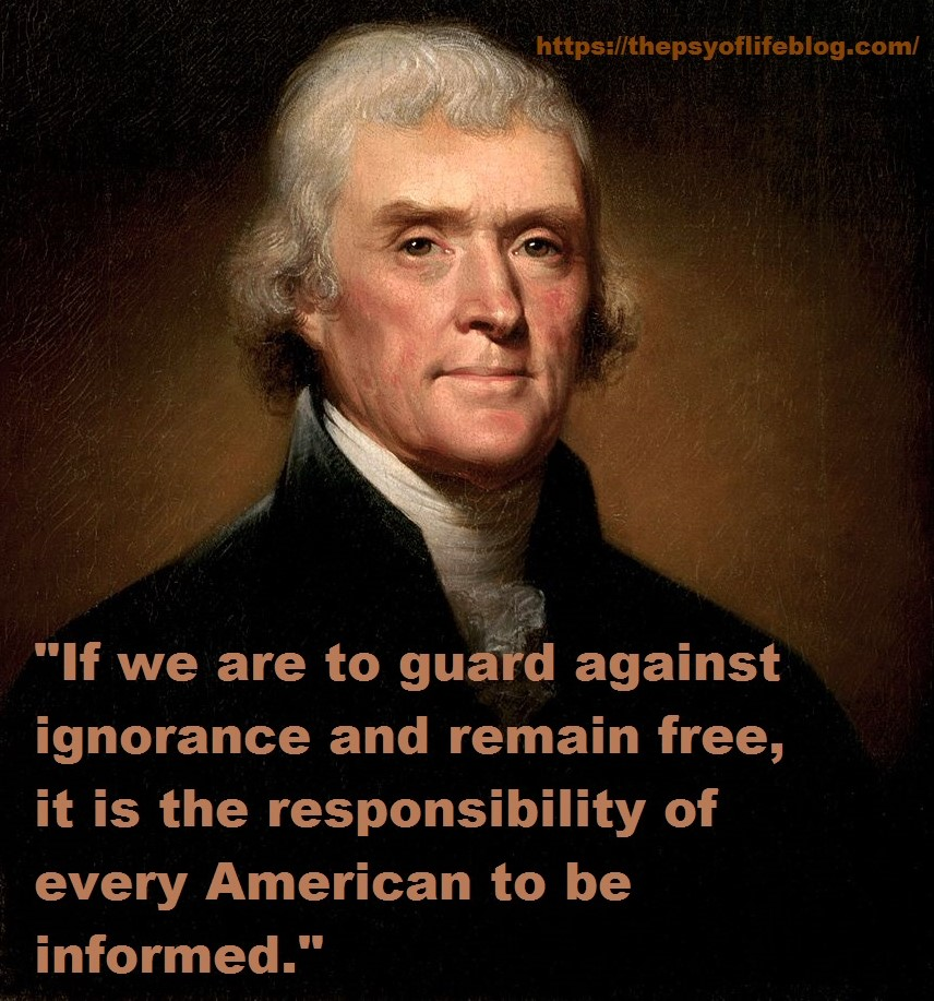 Who did Thomas Jefferson say is responsible for keeping us free?