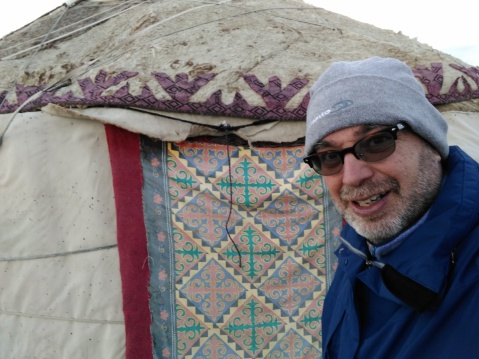 That's my yurt for the night. Does it look warm? It wasn't bad...