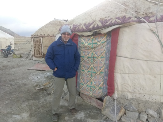 It's a cold day and a colder night at Karakuri Lake, and I am about to spend it in a yurt!
