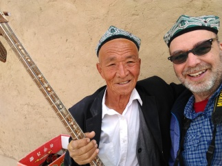A lovely old man playing outside the 1000 Buddhist Caves outside of Turpan. He was GREAT!