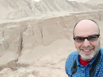 On the side of the road heading back to Turpan from 1000 Buddhist Caves.