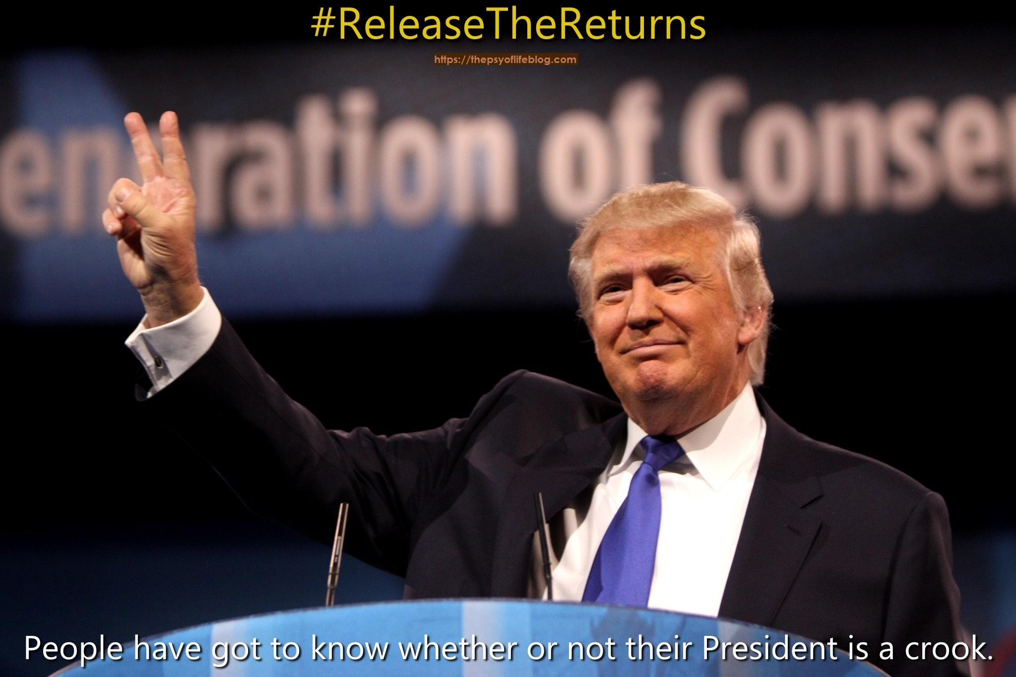 Nixon #ReleaseTheReturns Crook
