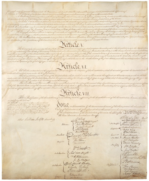 Constitution, Shared American Values, the Bill of Rights, the Preamble