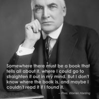 Meme: Warren Harding, #HistoryRepeats