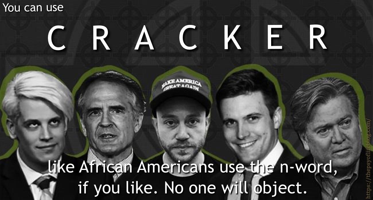 Meme, cracker, alt-right, snowflake, n-word, African Americans, Black, Americans
