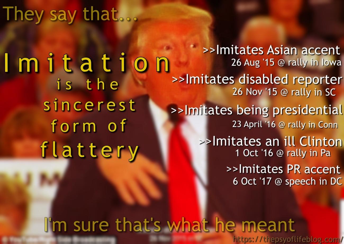 Imitation, flattery, Ol' Pussy Grabber, Trump