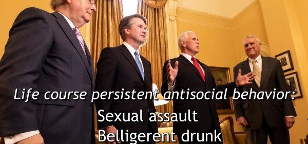 Brett Kavanaugh, Sexual Assault, Rape, Patrick Leahy, Antisocial Behavior, Adolescence Limited, Life Course Persistent