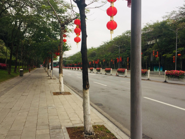 Coronavirus, Empty street, BaiYun, Guangzhou, Chinese New Year