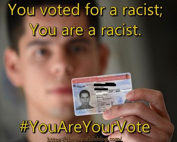 #YouAreYourVote - racist