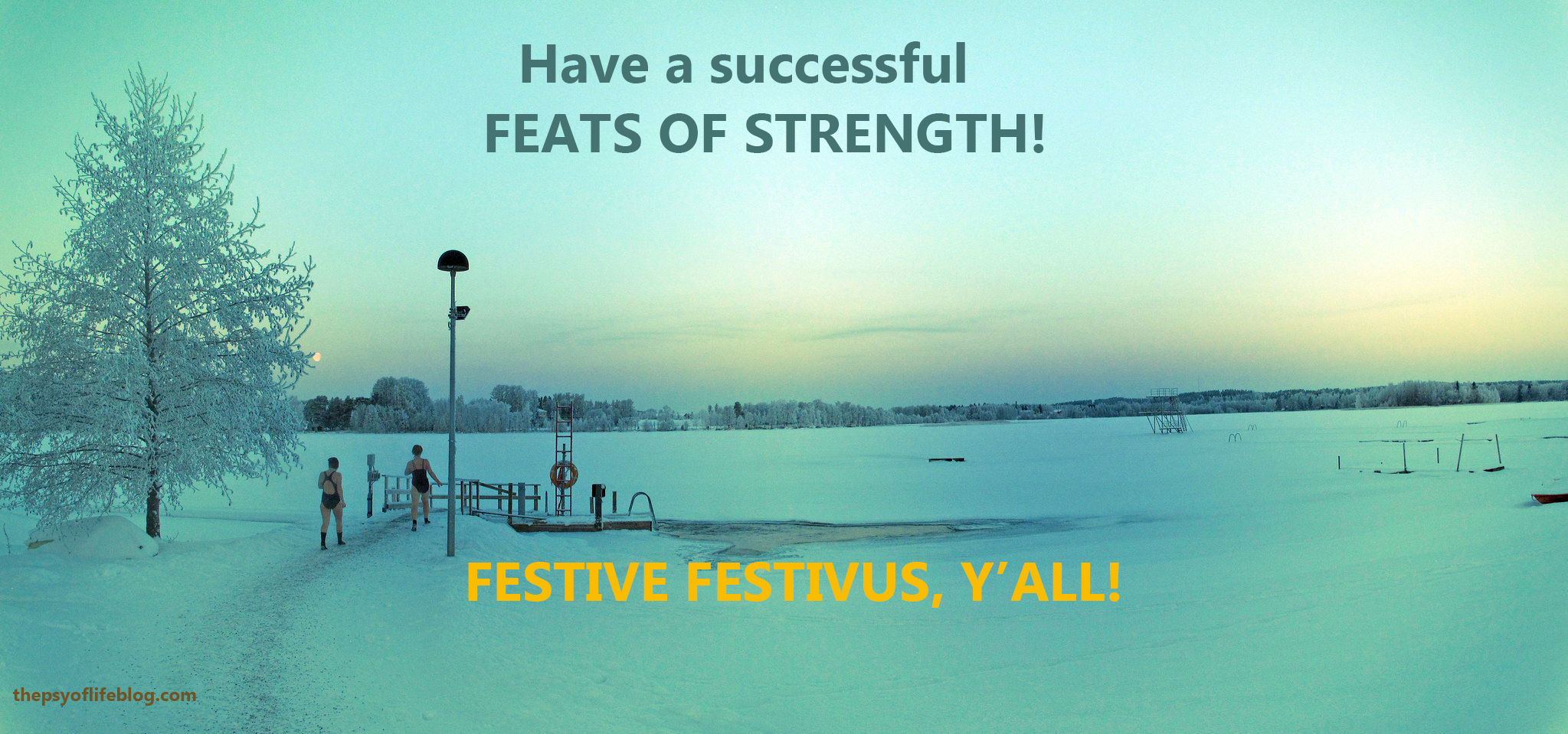 Festivus Card: Feats of Strength Polar Bear Swim