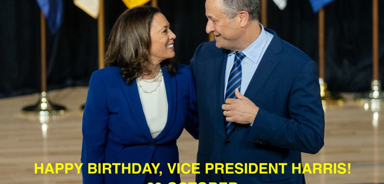 What was the date of Vice President's Kamala Harris' birth?